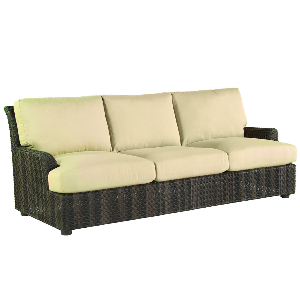 Whitecraft by woodard aruba wicker sofa Rattan loveseat