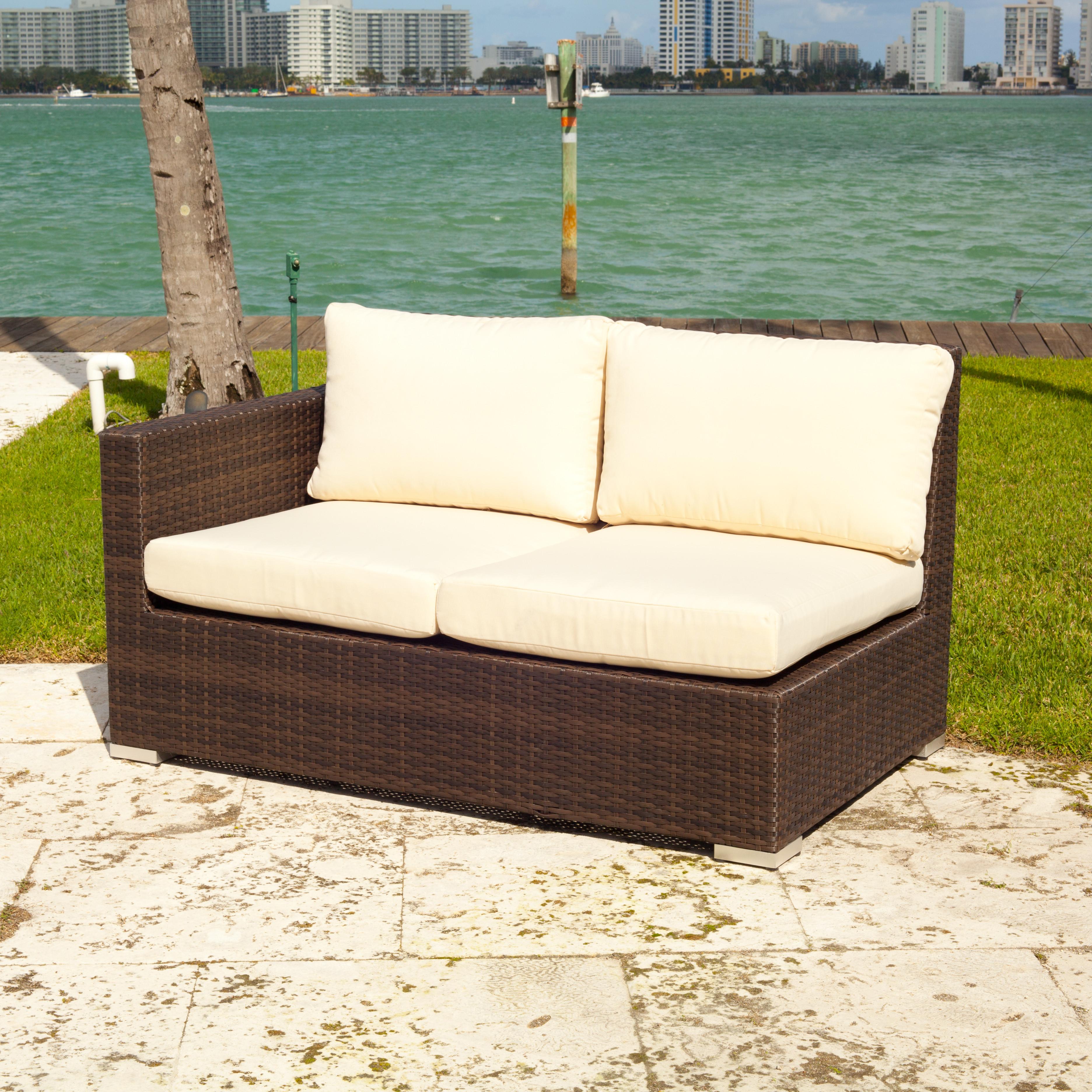 Source Outdoor Lucaya Wicker 8 Piece Sectional Sofa Set