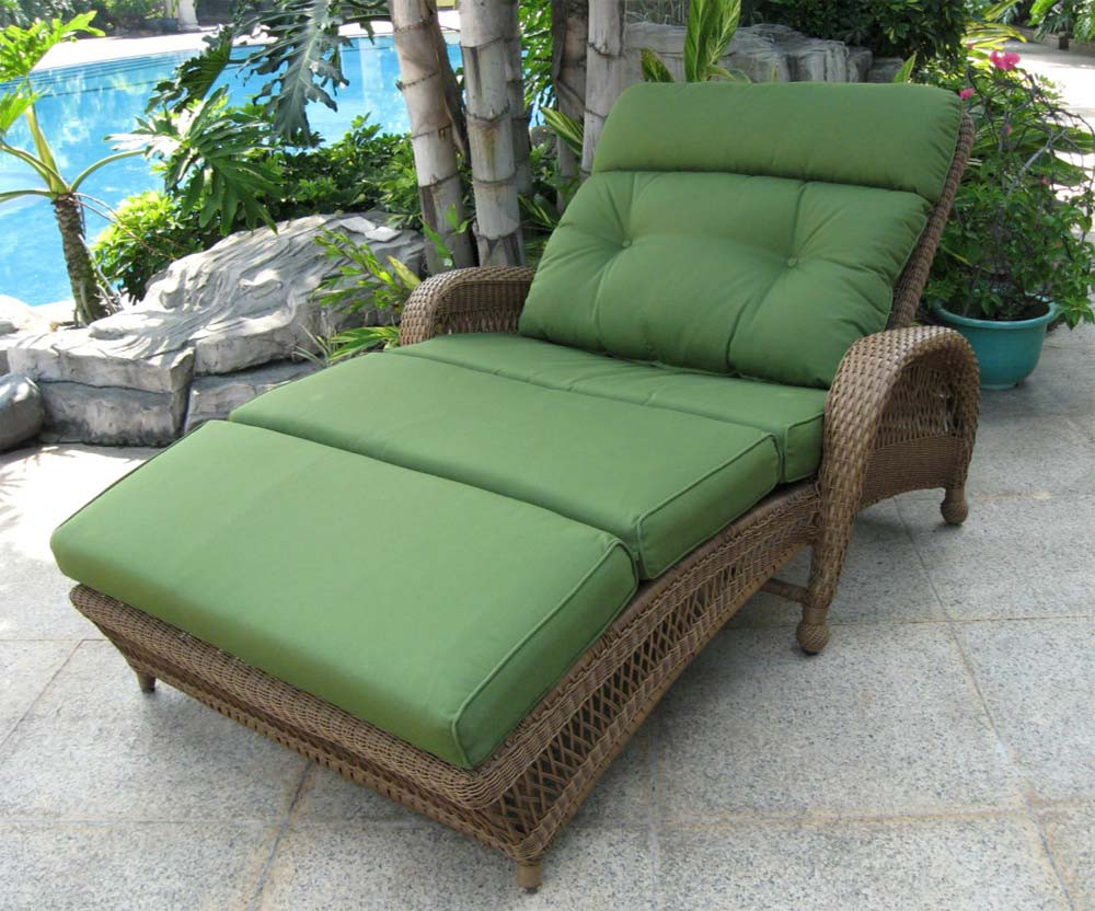 Longboat Key Casa Del Mar Wicker Double Adjustable Chaise Lounge WickerCent