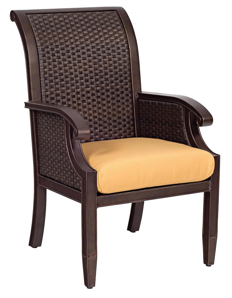 WhiteCraft By Woodard Del Cristo Wicker Dining Chair Replacement Cushion