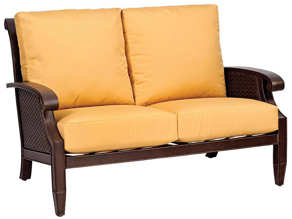 Whitecraft By Woodard Del Cristo Wicker Loveseat Replacement Cushion Whitecraft By Woodard