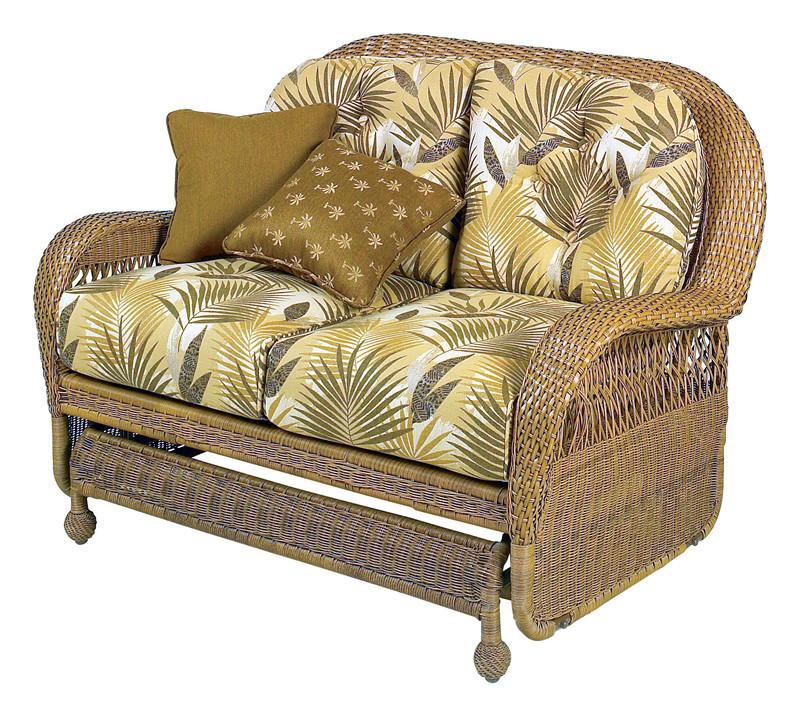 Longboat Key Casa Del Mar Wicker Double Glider