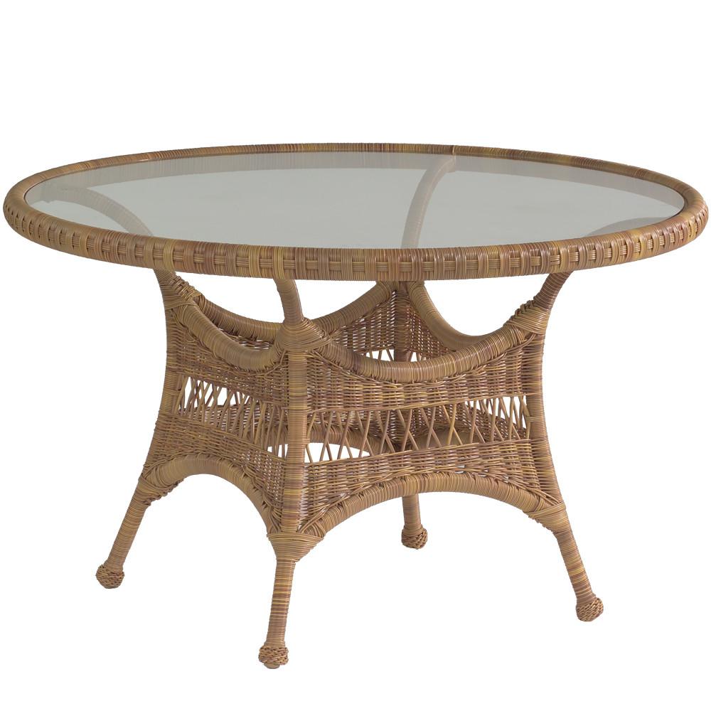 Whitecraft by Woodard Sommerwind Wicker 48 Round Dining Table