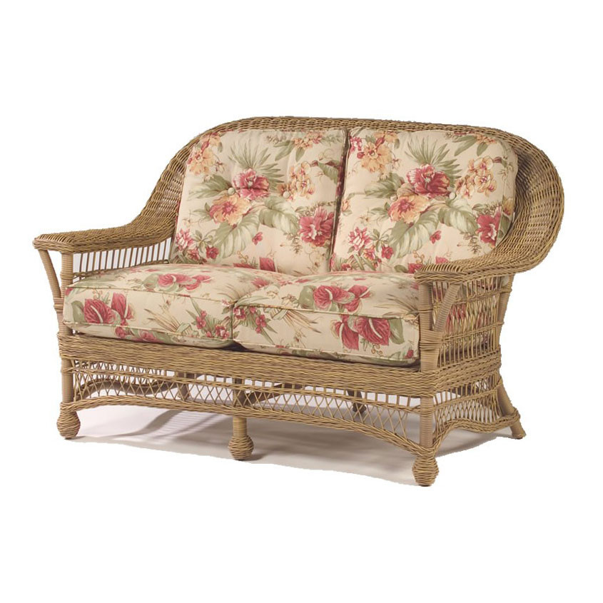 Replacement Cushions Whitecraft By Woodard Cottage Wicker Love Seat