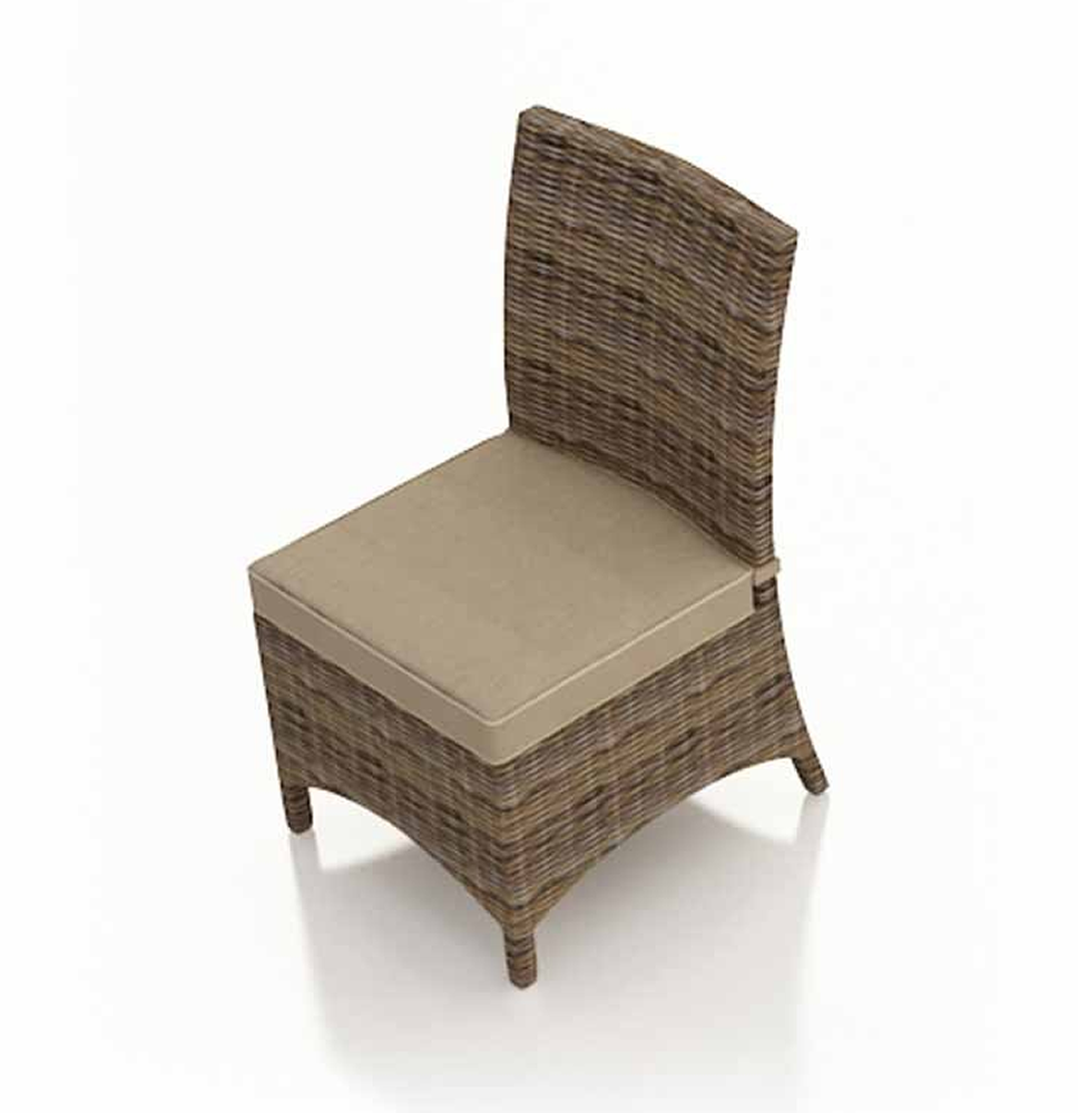 Forever patio cypress wicker dining side chair - Replacement cushions for wicker patio furniture ...