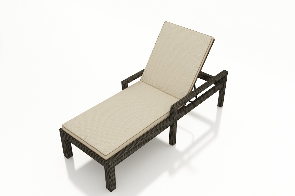 forever patio hampton wicker adjustable chaise lounge with arms replacement cushion. Black Bedroom Furniture Sets. Home Design Ideas