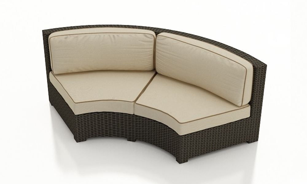 forever patio hampton wicker curved sofa replacement cushion - Replacement Cushions For Patio Furniture