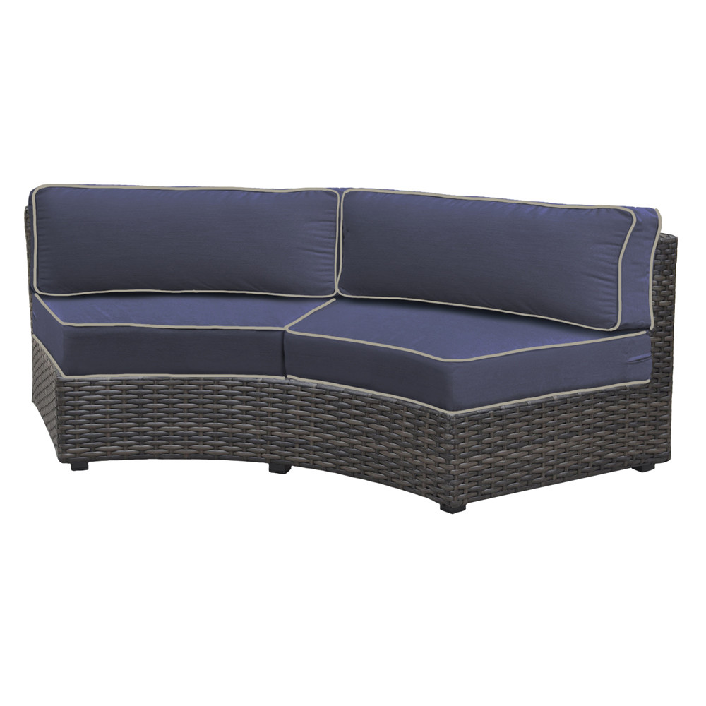 forever patio horizon curved wicker sofa wicker sofas wicker seating wickercentral