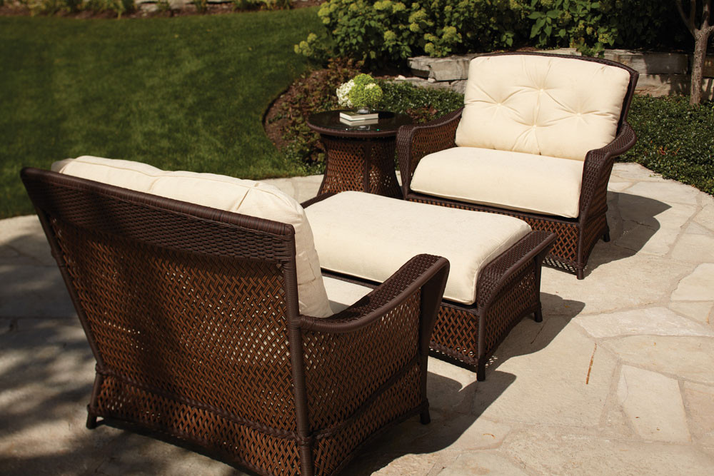 Lloyd Flanders Grand Traverse 4 Piece Chair Chat Set