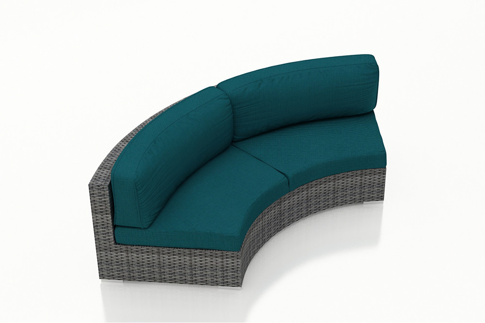 harmonia living district wicker curved sofa wicker sofas wicker seating wickercentral
