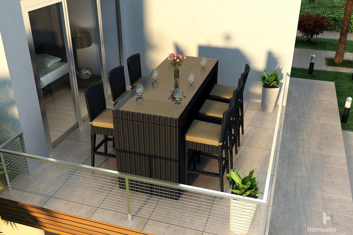 harmonia living urbana outdoor 7 piece bar set. Black Bedroom Furniture Sets. Home Design Ideas