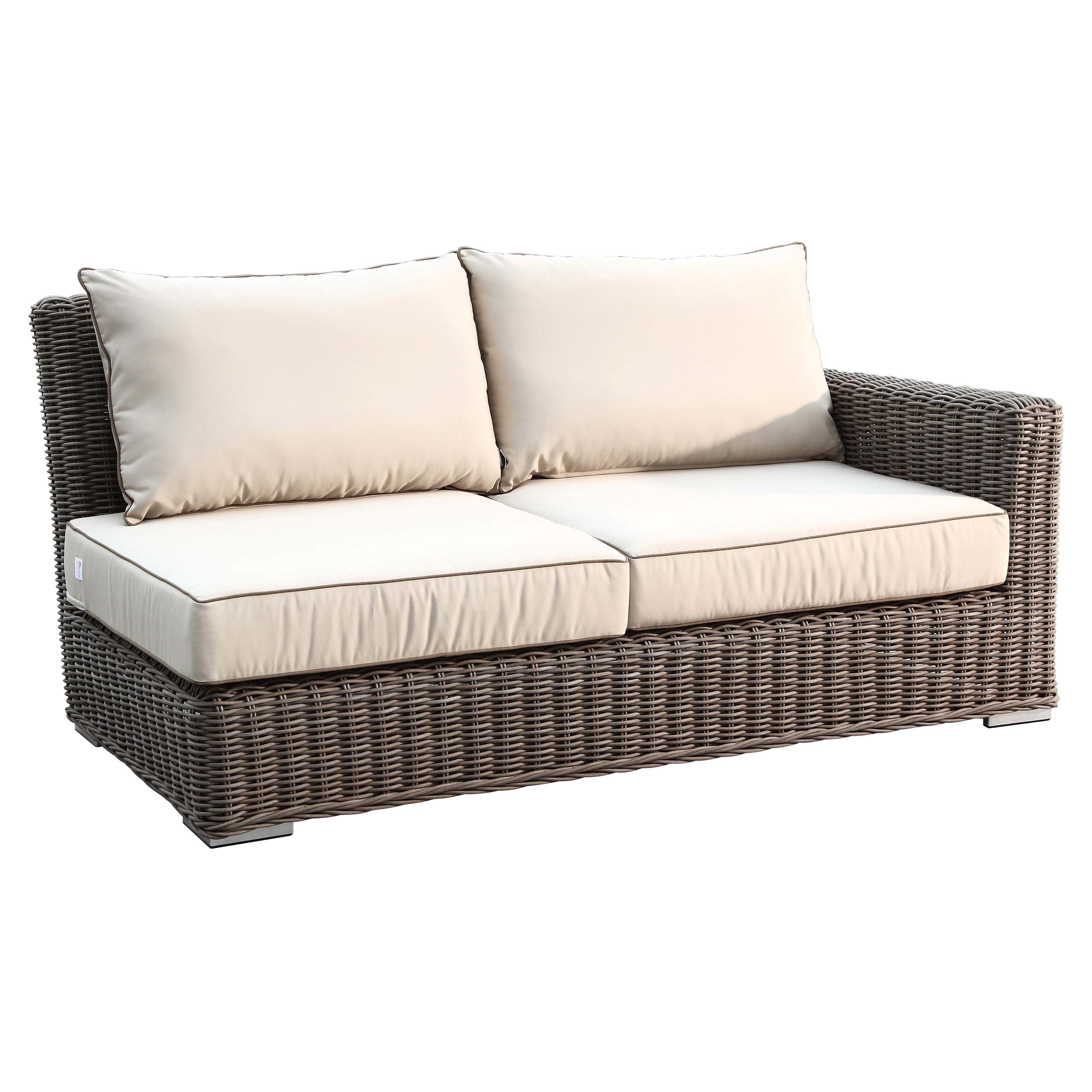 Sunset West Coronado 6 Piece Wicker Sectional Sofa Set