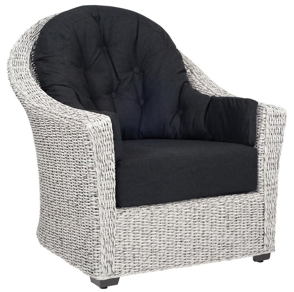 WhiteCraft By Woodard Isabella Wicker Lounge Chair