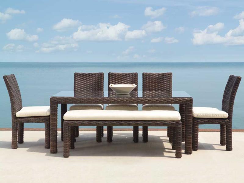 Lloyd flanders contempo wicker 7 piece dining set - Contempo wicker outdoor furniture ...