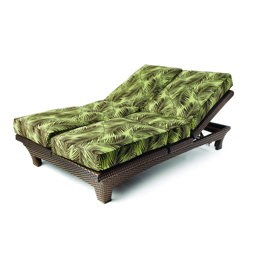 Lloyd Flanders Wicker Sunchaser Adjustable Double Chaise ...