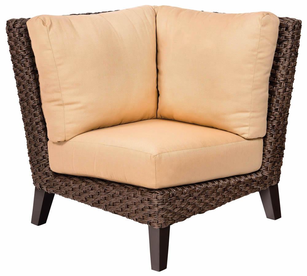 WhiteCraft By Woodard Mona Wicker Corner Chair