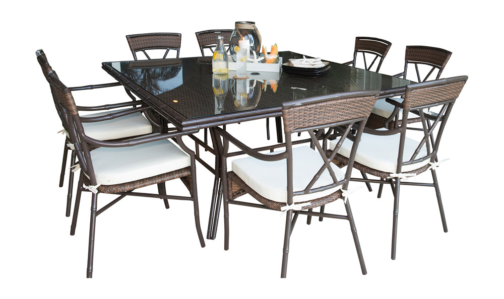 rum cay 9 piece wicker dining set traditional wicker dining sets