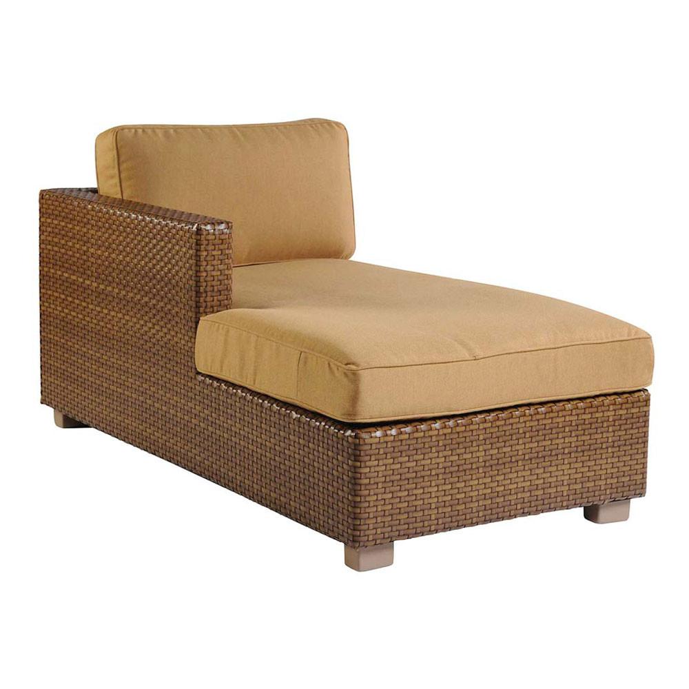 whitecraft by woodard sedona wicker sectional chaise lounge