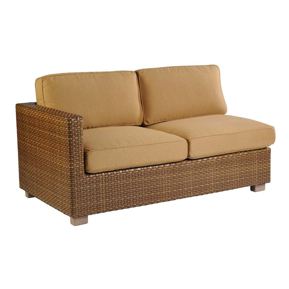 Loveseat with chaise ikea kivik loveseat chaise for Belmont brown wicker patio chaise lounge