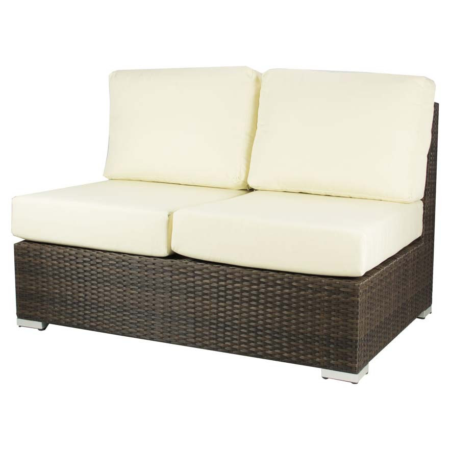 source outdoor lucaya armless wicker loveseat