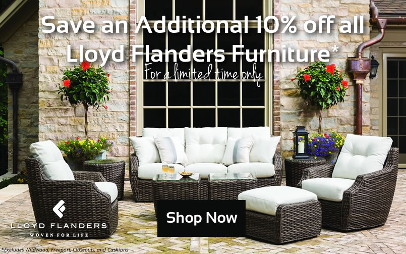 Save on Lloyd Flanders Wicker Furniture at Wickercentral