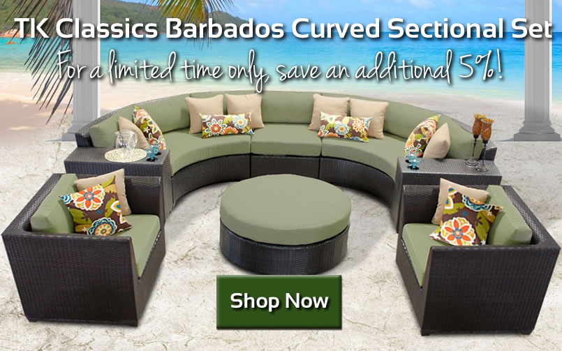 Save on TK Classics 8 Piece Curved Sectional Set