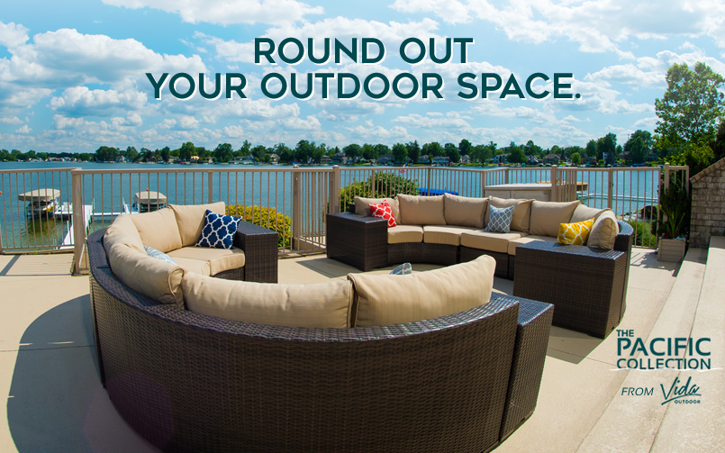 Vida Outdoor Curved Sectionals