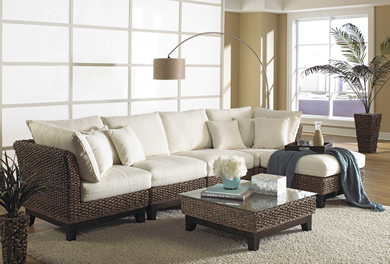 Rattan Indoor Sectional Sofa | Centerfieldbar.com
