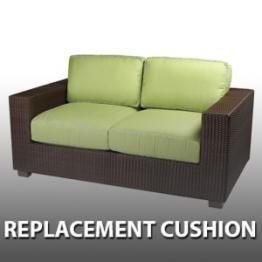 Add To Wishlist Whitecraft By Woodard Montecito Wicker Loveseat Replacement Cushion