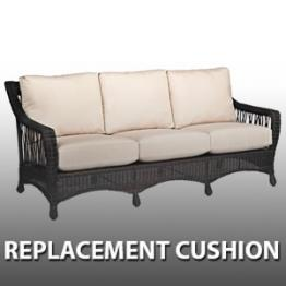 Add To Wishlist. WhiteCraft By Woodard Serengeti Wicker Sofa   Replacement  Cushion