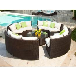 add wishlist source outdoor add to wishlist source outdoor wicker sectional sets wickercom