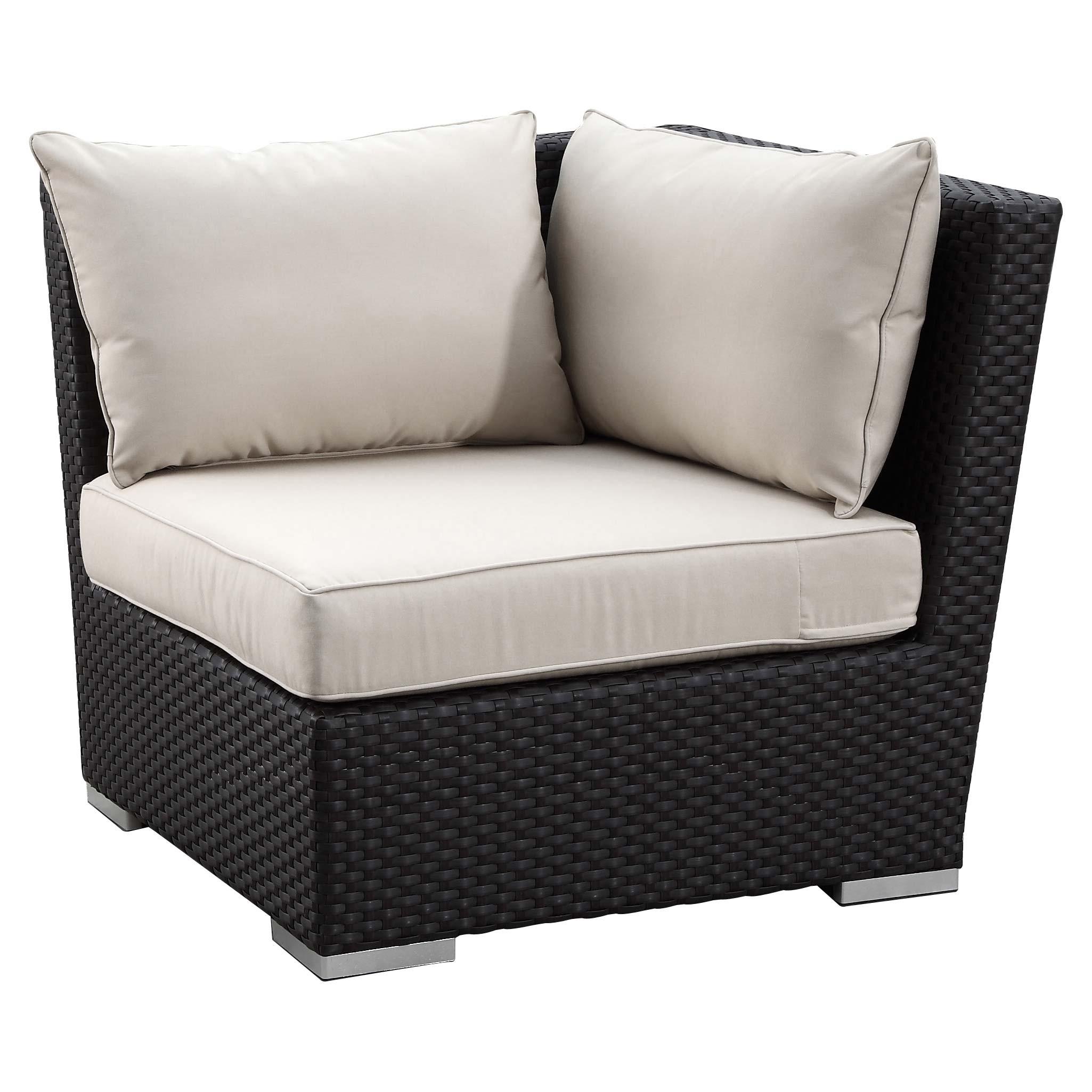 Sunset West Solana Wicker 5 Piece Sectional Sofa Set