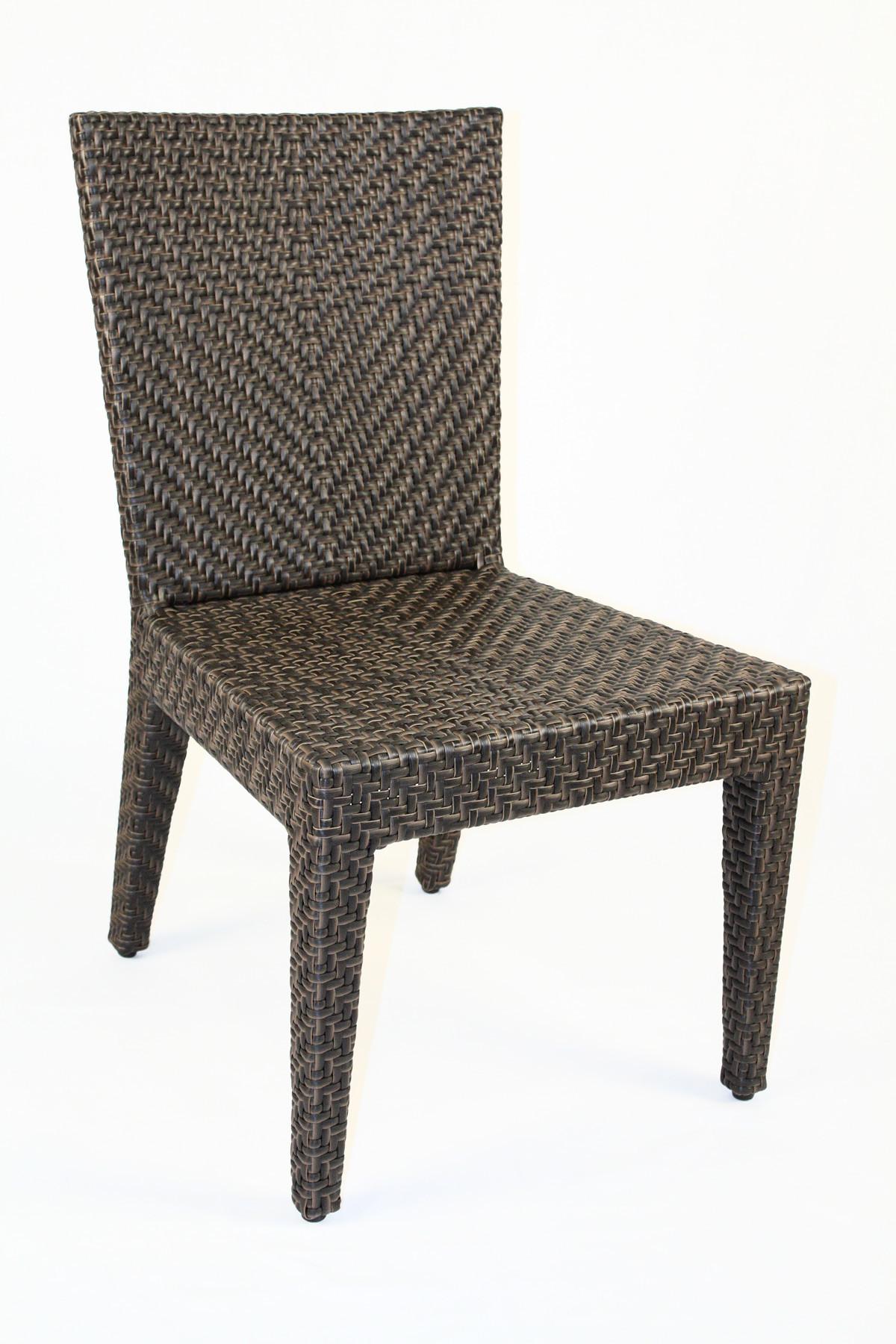 Hospitality Rattan Soho 3 Piece Wicker Side Chair Bistro Set